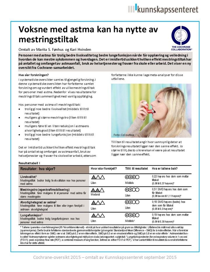 pollen astma behandling