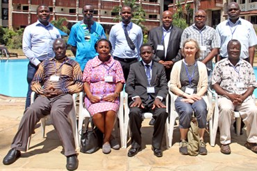 Prof Dambisya, the Director General ECSA-HC (middle front raw) and other participants at the validation workshop