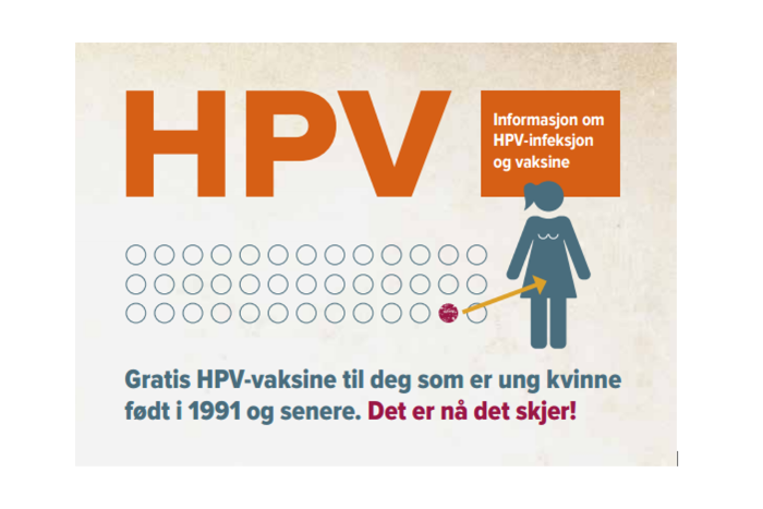 Free HPV vaccine available for young women - NIPH