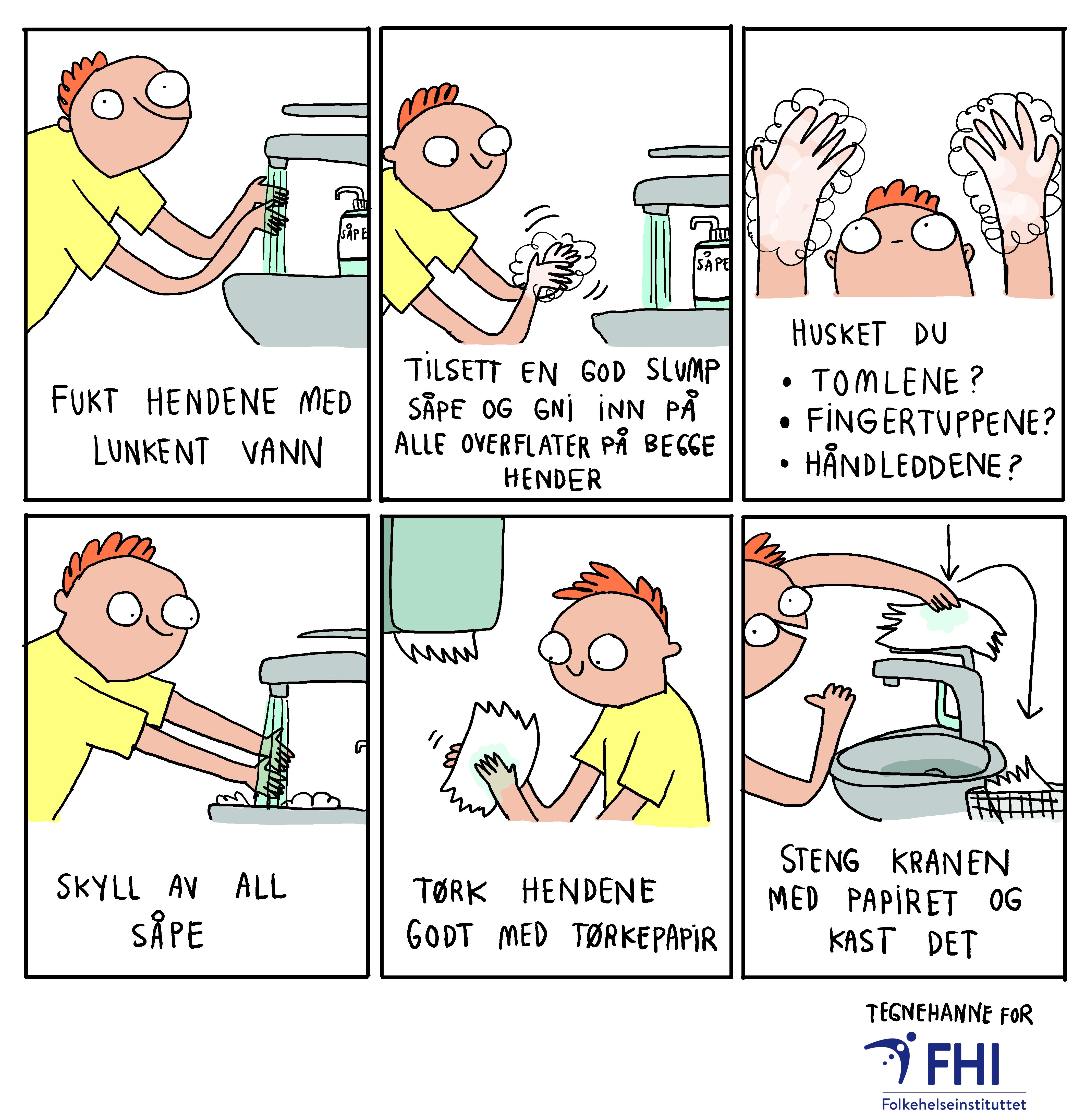illustrasjon håndvask
