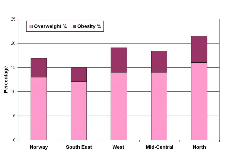 Girls, obesity, overweight, by county, 2008 adjusted.