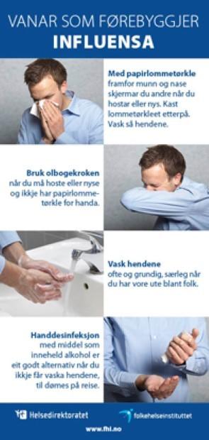 Vaner Som Forebygger Influensa Brosjyre Fhi