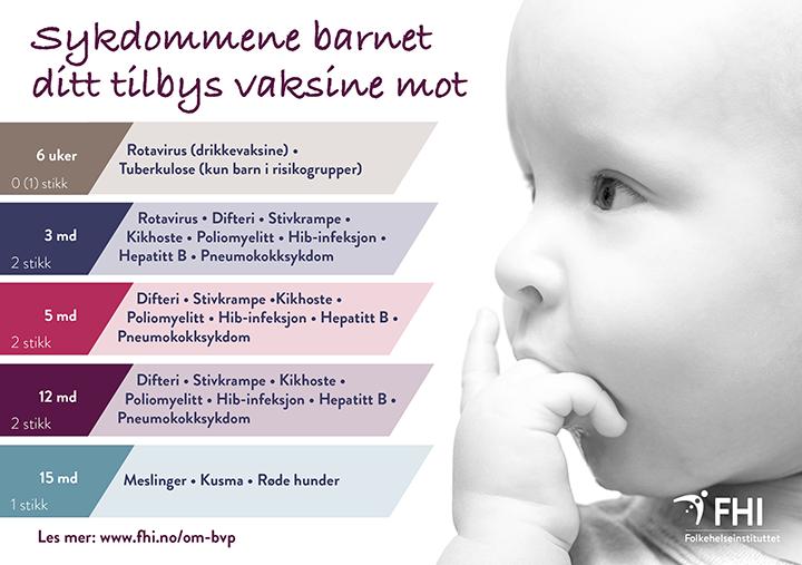Vaksine 6 uker baby